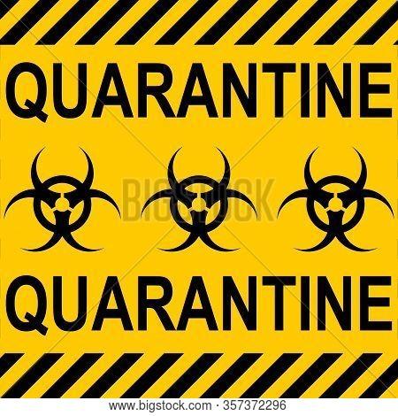 Background Yellow Black Stripes Quarantine Zone Area Stop Coronavirus Covid Ncov , Vector Quarantine
