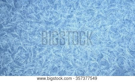 Fully Covered Frosted Frame. Frosted Patterns On The Glass. 3d Rendering.