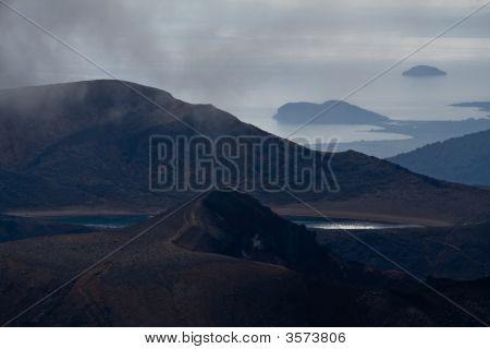 Vulcan Landscape With Ocean