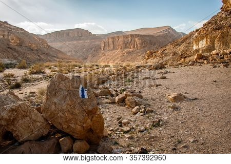 Day Hike Adventure In Negev Desert - Ein Saharonim Oasis In Dry Israel