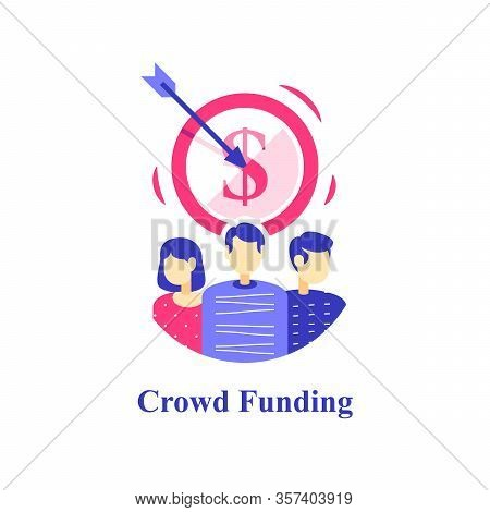 Crowdfunding Concept, Fund Raising Campaign, Charity Event, Nonprofit Program, Collecting Donations,