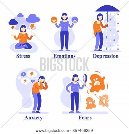 Woman With Mental Problems, Psychological Situations, Psychology Help, Emotional Development, Counse