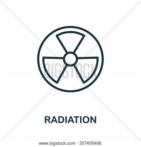 Radiation Icon. Simple Line Element From Biotechnology Icons Collection. Outline Radiation Icon For