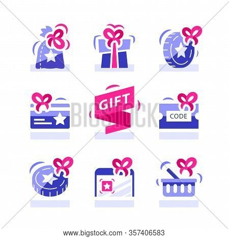 Loyalty Gift, Reward For Purchase, Earn Points And Redeem Special Present, Lottery Prize, Giveaway C