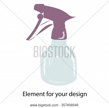 Spray. Pulverizer Spray. Vector Illustration Isolated On A White Background..