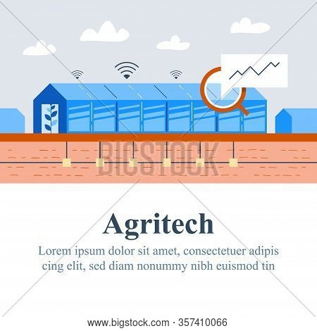 Agriculture Technology, Agritech Concept, Automation System, Yield Improvement, Smart Solution, Glas