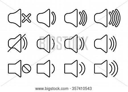 Set Of Volume Icons, Web Icons Speakers Volume.
