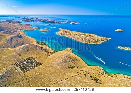 Kornati Islands National Park. Unique Stone Desert Islands In Mediterranean Archipelago. Dalmatia Re
