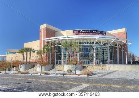 Columbia, South Carolina/united States- January 7: Colonial Arena In Columbia, South Carolina On [ja