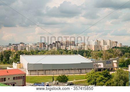 Belgorod, Russia - July 17, 2019: Ice Arena Silver Donets On Korochanskaya Street. View Of The Centr