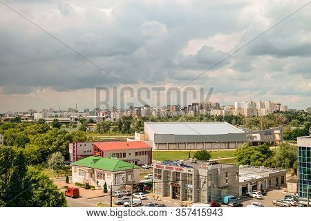 Belgorod, Russia - July 17, 2019: Korochanskaya Street In The Eastern Industrial And Warehouse Distr