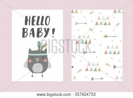 Cute Print Boho Style. Seamless Pattern With Cute Little Animals. Vector Illustration. Vector Print
