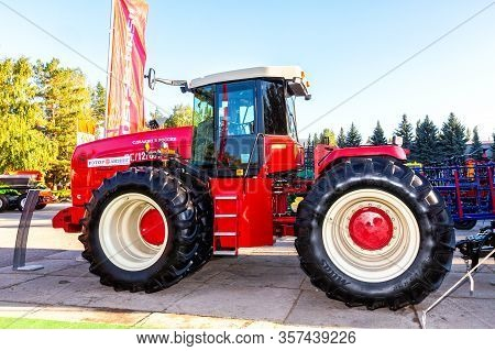 Samara, Russia - September 23, 2017: Modern Agricultural Tractor Versatile 2375 4wd Exhibited At The