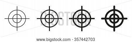 Focus Target Vector Isolated Icons On White Background. Target Goal Icon Target Focus Arrow Marketin