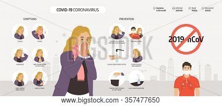 Coronavirus 2019-ncov Infographics Elements, Human Are Showing Coronavirus Symptoms And Risk Factors