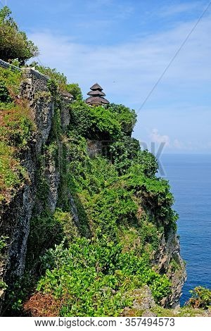 Uluwatu Temple Is A Famous Hindu Temple In Bali. Uluwatu Is One Of Bali's Picture Postcard Temples,