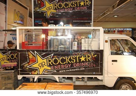 Mandaluyong, Ph - Apr. 19: Rockstar Energy Drink Mobile Kiosk At Trans Sport Show On April 19, 2012