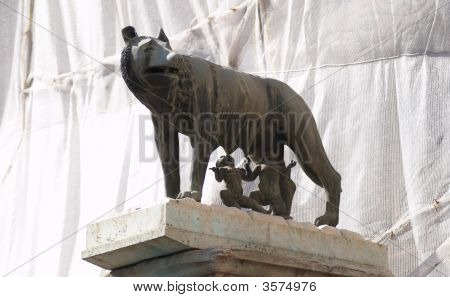 Capitoline Wolf Suckles The Infant Twins Romulus And Remus