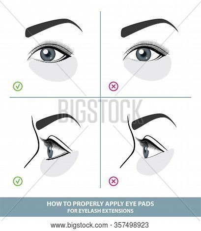 How To Apply Under Eye Patches And Protection Pads For Eyelash Extensions Properly. Hold Down Bottom