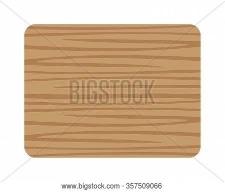 Butcher Wood Square And Corner Rounded, Wood Board Isolated On White Background, Planks Wooden Brown