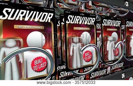 Survivors People Adveristy Challenge Crisis Built to Last Survival 3d Illustration