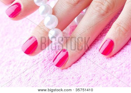 manicre treatment at the wellness salon