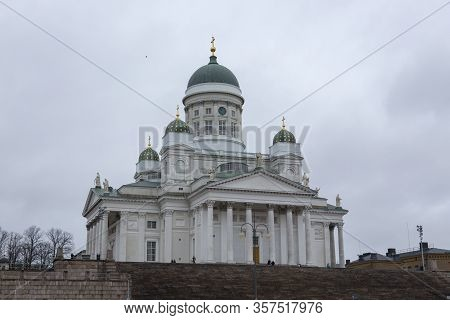 Helsinki, Finland - January 17, 2020: St. Nicholas Cathedral - The Main Church Of The Helsinki Dioce