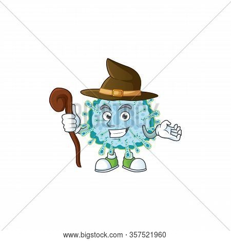 Sweet And Tricky Witch Coronavirus Illness Cartoon Character