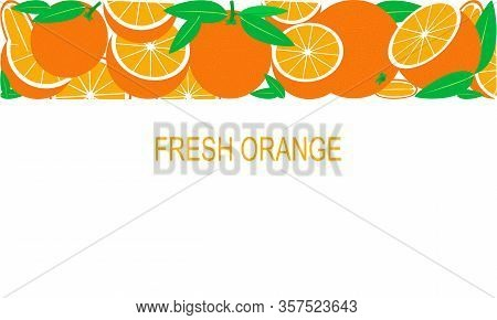 Vector Fresh Oranges Template Suitable For Banners, Magazines, Websites, Restaurants And Menus. Heal