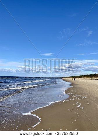 Baltic Sea Spring Coast  Sea  Beach Lilaste Latvia