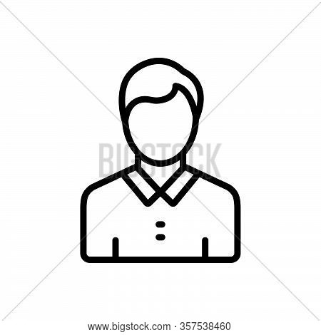Black Line Icon For Adolescent Teenager Youngster Young-person Youth Juvenile Minor Teeny-bopper