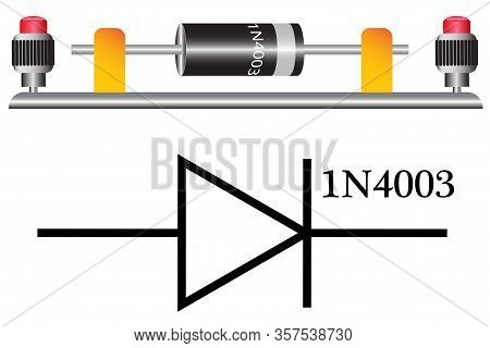 A Diode Is A Semiconductor Device Having Two Contacts - An Anode And A Cathode, A Current Is Passed
