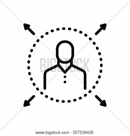 Black Line Icon For Widespread Boundless Prevalent Prevailing Operable Passable Extensive