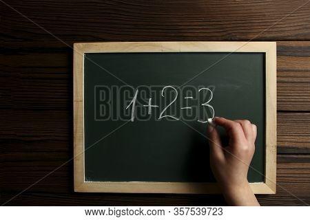 Chalk Board Green School Study Child Hand