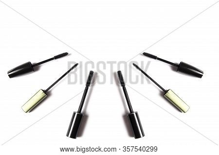 Nice Different Female Cosmetics On A White Background