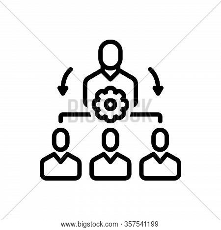 Black Line Icon For Organize Coordinate Classify Manage Administer Dominate Maintain Supervise
