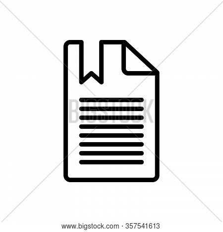 Black Line Icon For Chapter Section Division Part Portion Episode Phase Topic Book Education