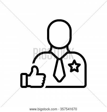 Black Line Icon For Encourage Stimulate Embolden Boost Fillip Incentive Motivation Enthusiasm