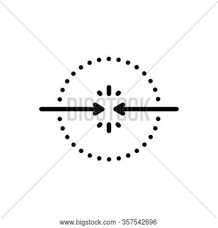 Black Line Icon For Encounter Face Opposite Confrontation Coming-face-to-face Faceoff Arrow