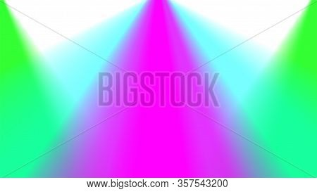 Blurred Colorful Light Beam On White For Background, Light Ray Glowing Bright Color For Backdrop, Sp