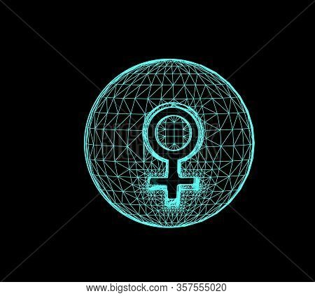 Venus, The Planet Responsible In Astrology For The Beauty, Pleasures, Etc. Vector 3d Illustration