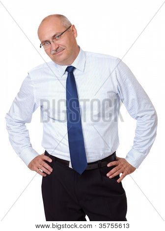 Matured confident businessman, isolated on white