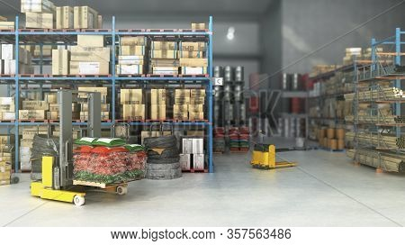 Hangar Delivery Warehouse 3d Render Image Interior