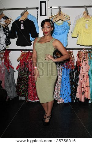 LOS ANGELES - AUG 3: Ashleeta Bouchon at the opening of the 'Pinup Girl Boutique' on August 3, 2012 in Burbank, California