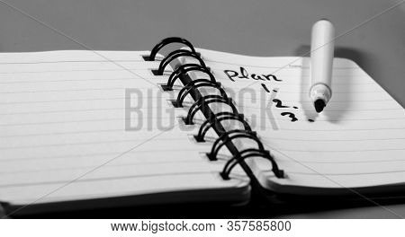 Stock Photo Of 2020 New Year Notebook With List Of Resolutions And Objects On White Background