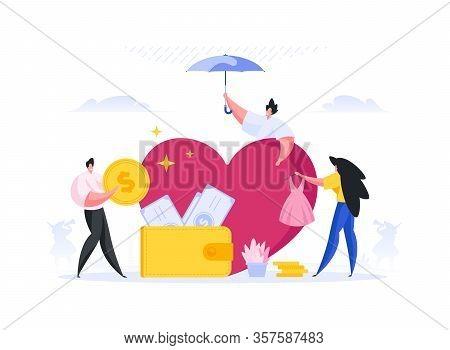 Man Nurturing Favorite Idea For Investors. Flat Vector Illustration
