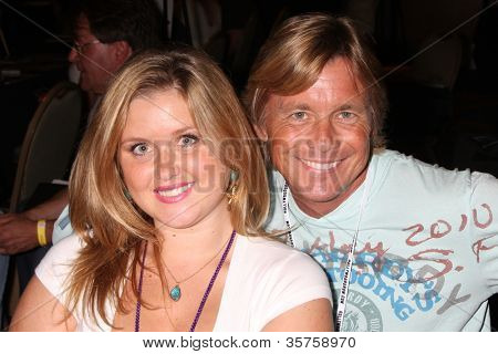 LOS ANGELES - AUG 4:  Christopher Atkins, daughter appearing at the
