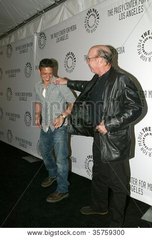 BEVERLY HILLS - MARCH 7: Theo Rossi and Dayton Callie arrive at the 2012 Paleyfest