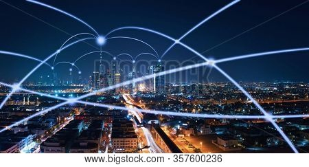 Science And Technology Background. Modern Hi-tech Digital Technology Concept. Internet Communication