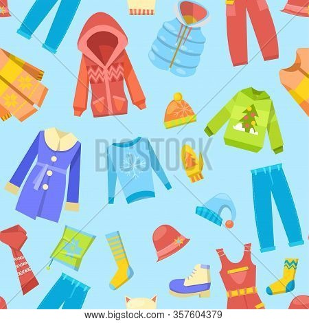 Warm Winter Clothes And Woolies, Winter Apparel With Scarf, Winter Fashion, Hat, Coat And Sweater, J